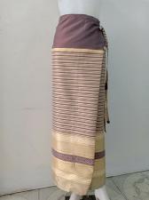 Buy Thailand Tradition Multi Wrap Sarong long Skirt Stitching Tie Waist dress SR37