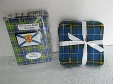 Buy Nova Scotia Tartan Quilted Drink Coasters and NoteBook w Mini Pen Souvenir NEW
