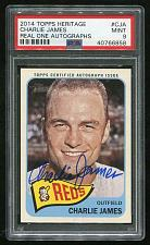 Buy 2014 TOPPS HERITAGE REAL ONE AUTO CHARLIE JAMES, PSA 9 MINT (40766858)