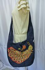 Buy Thai Hemp woven fabric Peacock Embroidery Sling Cross body Bag Handbag BS-036