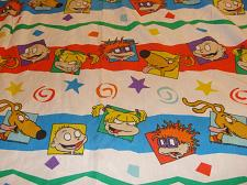 Buy 2 VINTAGE NICKELODEON RUGRATS FITTED TWIN SHEET CUTTER CRAFTS FABRIC BRIGHT