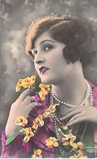 Buy Young Dutch Woman With Flowers Tinted Real Photo RPPC Used Postcard