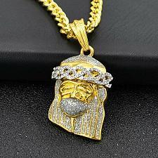 Buy Elvis Presley Christ Jesus Concert TCB Gold Plated Chain Necklace Pendant