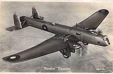 Buy Fairley Hendon British Pre WW II Bomber Valentines Vintage Postcard