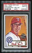 Buy 2001 TOPPS HERITAGE REAL ONE RED AUTO MIKE LAMB PSA 10 GEM MINT (25853693)