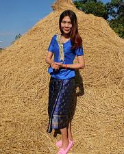 Buy Blue Lao Laos Short SLeeve V neck Blouse Us Siz 0 Sinh Skirt XS Clothing Costume