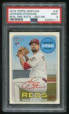 Buy 2018 TOPPS HERITAGE REAL ONE RED AUTO JACKSON STEPHENS PSA 9 MINT (42962217)