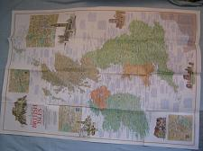 Buy VINTAGE TRAVELER'S MAP OF THE BRITISH ISLES National Geographic April 1974 MINT