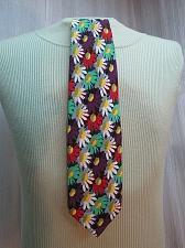 Buy Carnaval De Venise 100% Silk Tie Italy Multicolored Floral Art Daisy M167E
