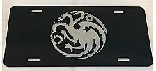 Buy Laser Engraved Game of Thrones Targaryen Logo License Plate Car Tag Vanity Plate