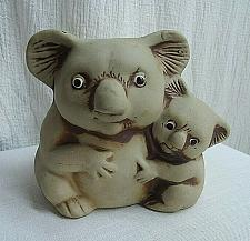 Buy Vintage Koala Planter Momma Koala and Baby clay pottery planter