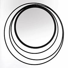 Buy *18792U - Three Ring Black Iron Wall Mirror