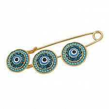 Buy Gift islam muslim Allah Evil Eye three Scarf Hijab crystal Pin brooch