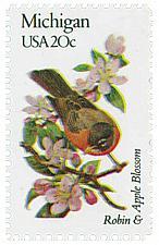 Buy 1982 20c State Birds & Flowers, Michigan, Apple Blossom Scott 1974 Mint F/VF NH