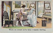 Buy Music So Sweet Evr'ry Time I Repeat Darling Vintage Romance Postcard