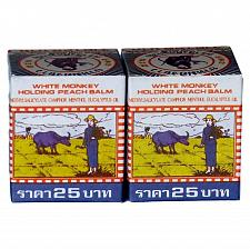 Buy White Monkey Holding Peach Medicated Balm Pain Relief Thailand 12g x 2 pcs