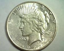 Buy 1923-S PEACE SILVER DOLLAR ABOUT UNCIRCULATED+ AU+ NICE ORIGINAL COIN BOBS COINS