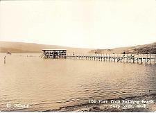 Buy pier From Bathing Beach Soap Lake, Washington Real Photo Vintage Postcard