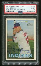 Buy 2016 TOPPS HERITAGE REAL ONE AUTO YAN GOMES, PSA 9 MINT (41680219)