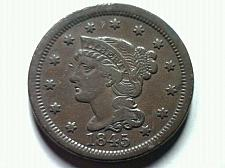 Buy 1845 LARGE CENT PENNY EXTRA FINE XF EXTREMELY FINE EF NICE ORIGINAL COIN