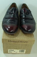 Buy Johnston & Murphy Burgundy Leather Aristocrat Lasalle Tassel Loafers Dress Sz 11