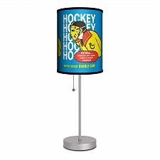 "Buy :10247U - Topps Hockey Gum Wrapper 1974 Shade 16 1/2"" Table Lamp Stainless"