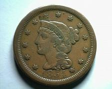 Buy 1854 LARGE CENT PENNY VERY FINE /EXTRA FINE VF/XF VERY FINE/EXTREMELY FINE VF/EF