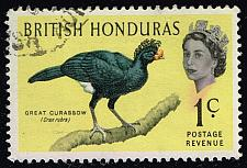 Buy British Honduras #167 Great Curassow; Used (0.60) (3Stars) |BHO167-01XVA