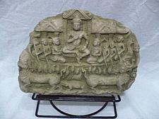 Buy CAMBODIAN ANGKOR WAT APSARAS KHMER WITH STAND SAND STONE COLLECTIBLE VIN TAGE 7