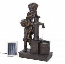 Buy *16357U - Boy & Girl Teamwork Water Pump Solar Water Fountain