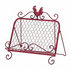 Buy *15878U - Red Rooster Metal Frame Recipe Book Stand