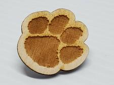 Buy Laser Engraved Clemson Tiger Paw Hat Pin