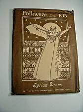 Buy Folkwear Syrian Dress No105 Sewing n Embroidery Pattern UNCUT Vintage M377ta
