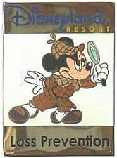 Buy Mickey as Sherlock Disneyland Cast Member only Loss Prevention pin
