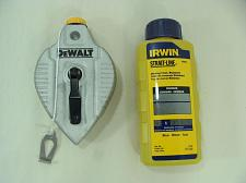 Buy New Cast Aluminum DeWalt 100' Chalk Snap Line & 4 oz. Bottle of Blue Chalk