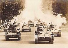 Buy Japanese Type 95 and Type 96 Tanks on Parade Real Photo RPPC Vintage Postcard