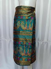 """Buy Bondi Blue Lao Laos Synthetic Silk Sinh Skirt for sale Waist can fit to 40"""""""