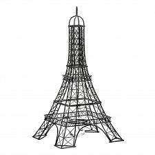 Buy *15674U - Eiffel Tower Metalwork Sculpture Votive Candle Holder Glass Cup