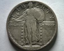 Buy 1918-D STANDING LIBERTY QUARTER EXTRA FINE / ABOUT UNCIRCULATED XF/AU NICE EF/AU