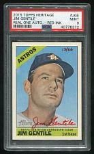 Buy 2015 TOPPS HERITAGE REAL ONE RED AUTO JIM GENTILE PSA 9 MINT (40778372)