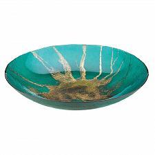 Buy *18590U - Celestial Teal & Metallic Gold Accent Bowl Decorative Plate
