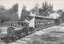 Buy Minature Trains at Eden Springs Park Benton Harbor Mich. Railroad Postcard
