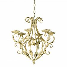 Buy 35601U - Royalty's Distressed Taper Candle Holder Chandelier Wrought Iron