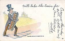 """Buy Will Take the Train for """"Cacunna Quebec, Canada"""" 1905 Used Vintage Postcard"""