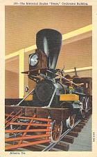Buy Historical Civil War Engine, Teas Cyclorama Building, Atlanta Vintage Postcard