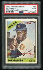 Buy 2015 TOPPS HERITAGE REAL ONE RED AUTO JOE GAINES PSA 9 MINT (40778365)