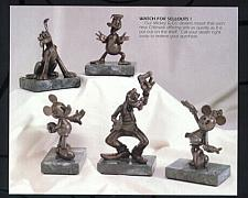 Buy Goofy Pluto Donald Minnie Mickey & Friends Bronze 9/75 Matched numbered set
