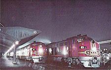 Buy Super Chief and the San Diegan Santa Fe's Trains Railroad Vintage Postcard