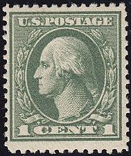 Buy 1919 1c George Washington, Gray Green Scott 536 Mint F/VF NH