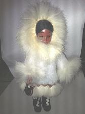 Buy Vintage Collectable - ESKIMO INDIAN DOLL - Sleeping Eye Doll White Rabbit Fur